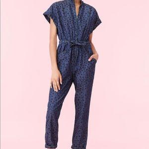 NWT Rebecca Taylor Denim Jumpsuit XL